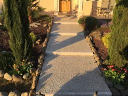 Aménagement extérieur : pavés et bordures