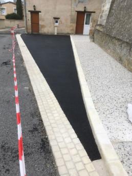 Aménagement de bordures en Charente