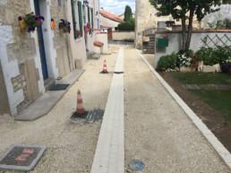 pose de bordures et pavés en Charente