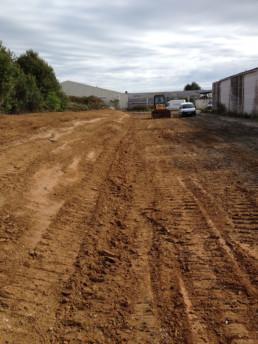 réalisation de travaux de terrassement