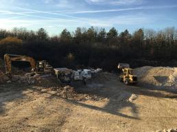 chantier de concassage et criblage des déchets