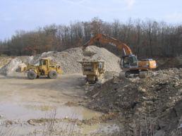 Triage des déchets sur chantier