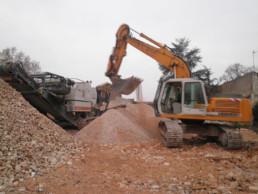 chantier - étape de triage des déchets